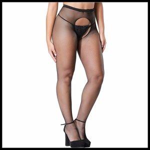 Miss Babydoll Intimates & Sleepwear - ❤️NEW Sexy Fishnet Open Cotch Stockings #S3022